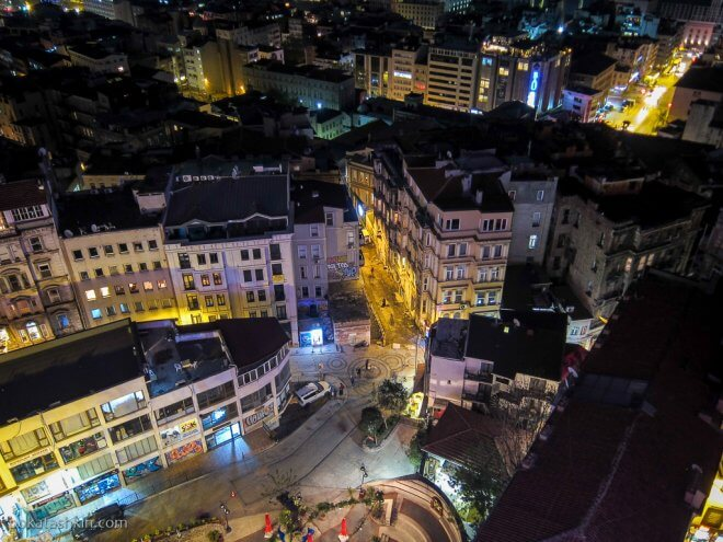 Вечерний Стамбул, вид с Галатской башни