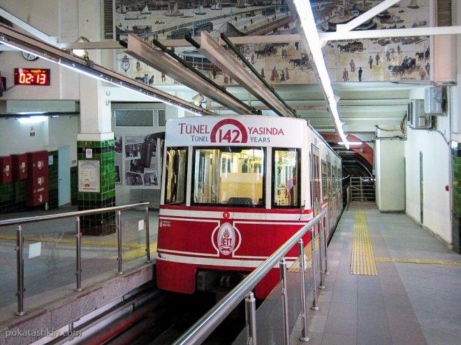 Подземный фуникулёр Тюнель (Tünel)