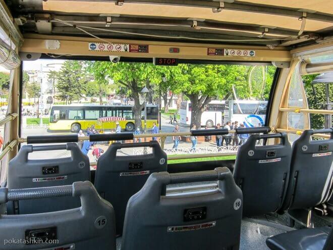 Второй этаж автобуса Big Bus Istambul
