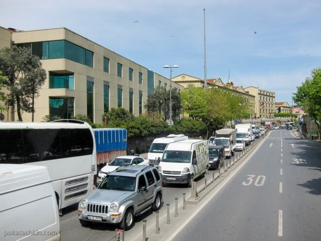 Пробка в Стамбуле