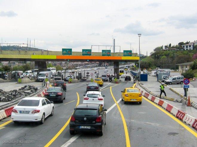 Оплата за проезд по мосту через Босфор
