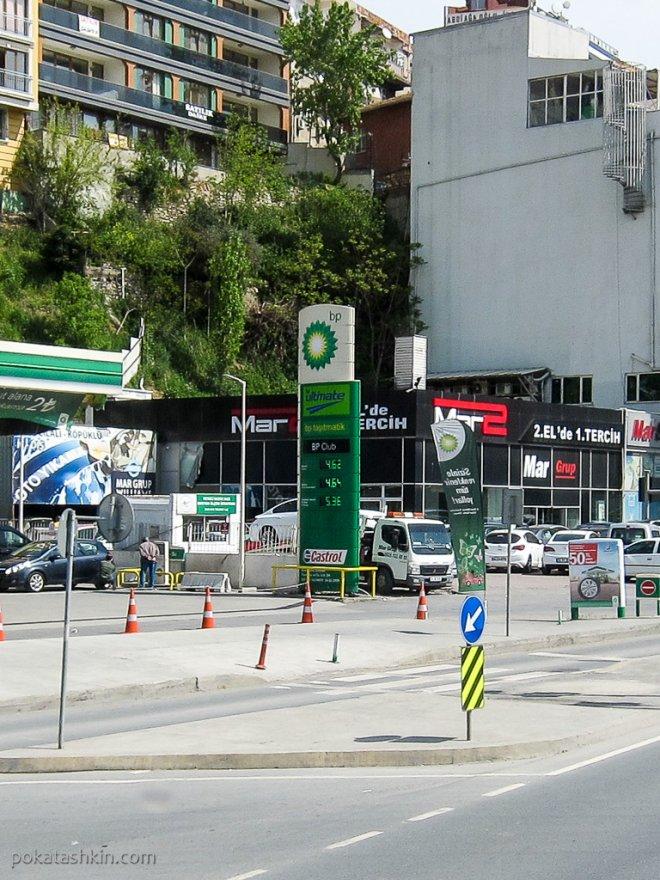 Цена на бензин в Стамбуле
