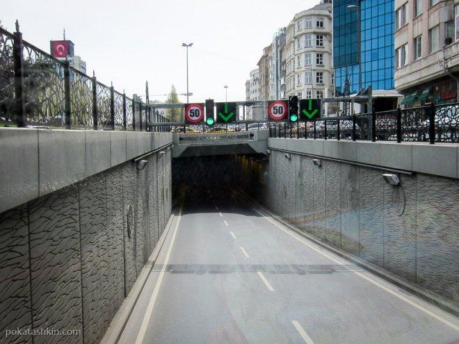Туннель рядом с площадью Таксим