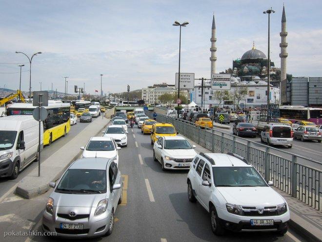 Дорожный затор в Стамбуле