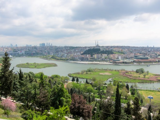 Вид Стамбула с холма Пьер Лоти