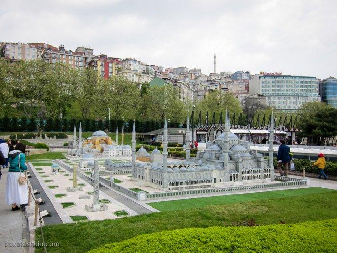 Мечеть Султанахмет (Голубая мечеть), Собор Святой Софии (Айа-Софья), Немецкий фонтан и монументы