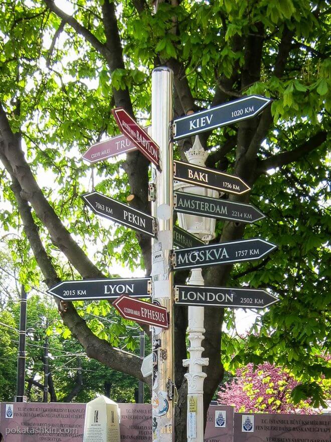 Расстояния до разных городов из Стамбула