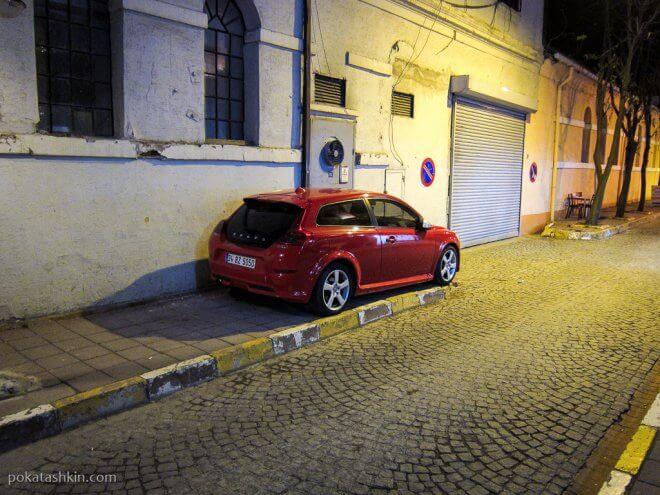 Парковка автомобиля на ночь