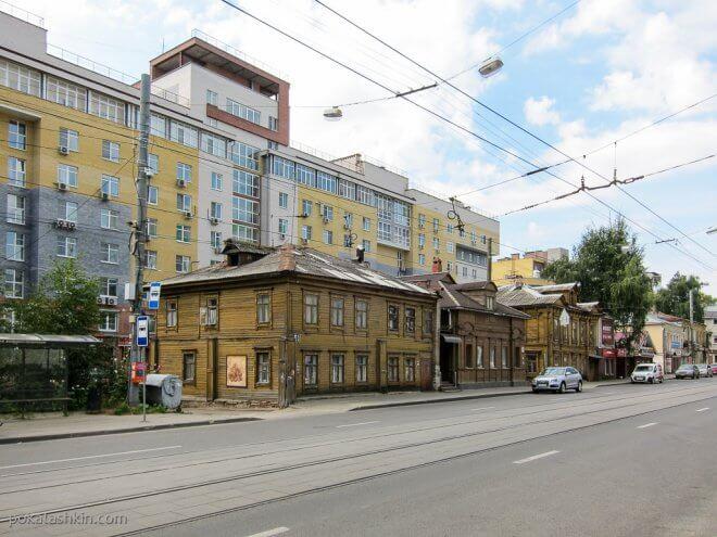 Деревянные дома в Нижнем Новгороде