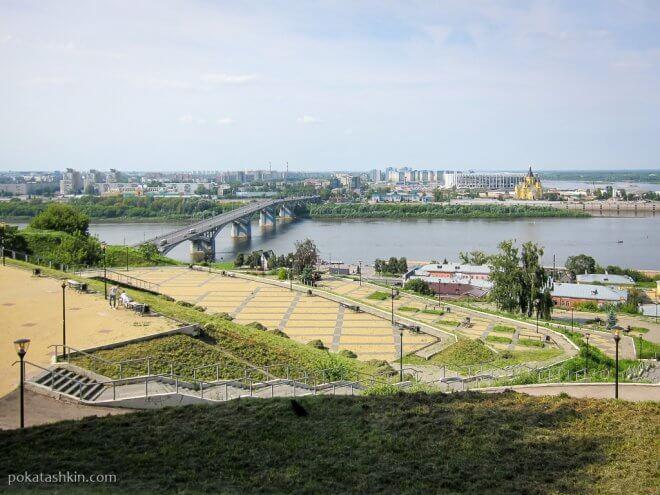 Обзорная площадка на набережной Федоровского в Нижнем Новгороде