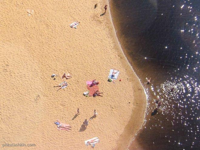 Пляж на Гребном канале