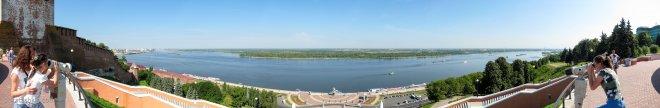 Панорама с Чкаловской лестницы (Нижний Новгород)
