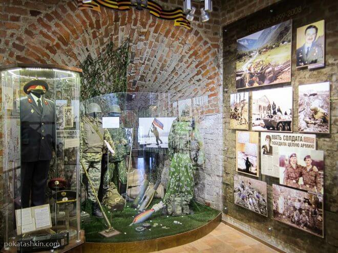 Экспозиция в музее посвящённая войне в Чечне
