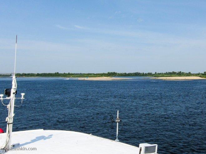 Песчаные островки на Волге