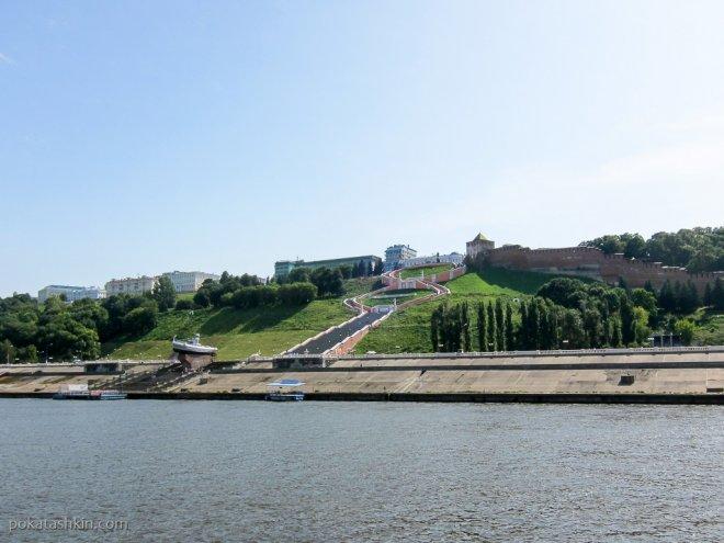 Чкаловская лестница и Нижегородский кремль