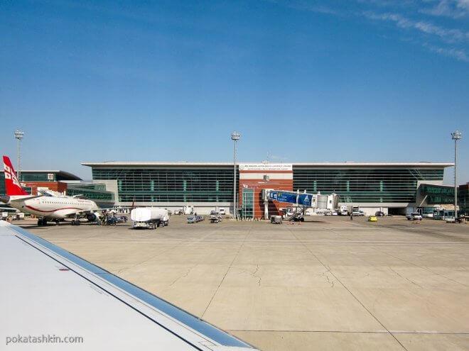 Новый терминал международного аэропорта Тбилиси имени Шота Руставели