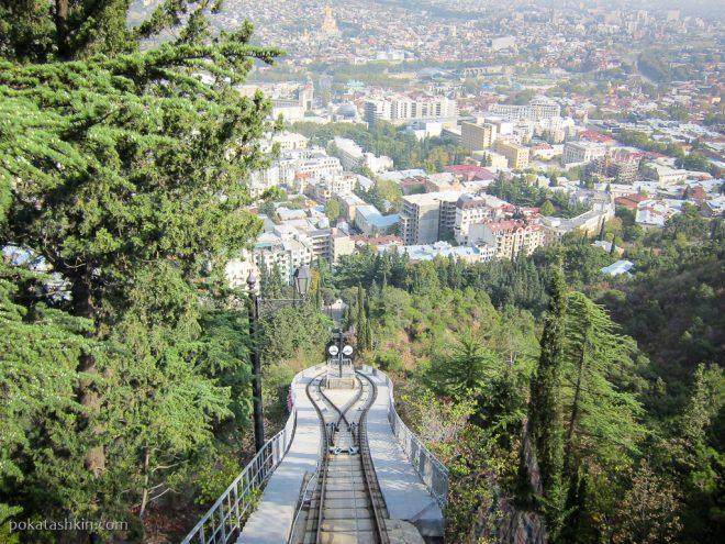 Тбилисский фуникулёр: рельсы