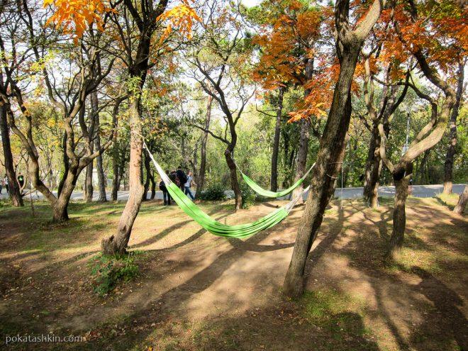 Парк Мтацминда: гамаки