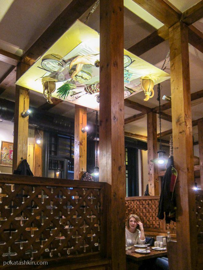 Интерьер ресторана «Pasanauri» / «Пасанаури» (Тбилиси)