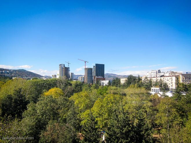 Канатная дорога в парке Ваке, Тбилиси