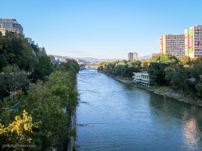 Река Кура с моста царицы Тамары