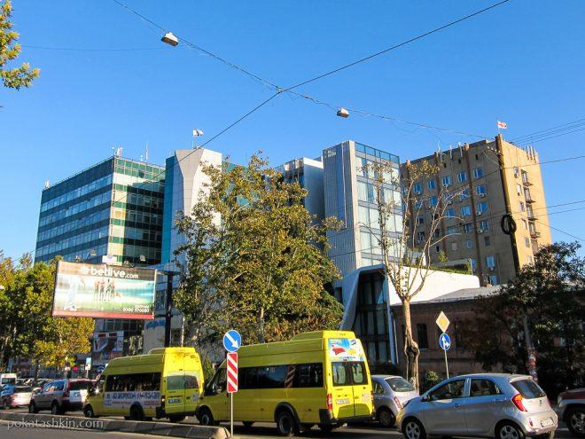 Израильский флаг на крыше, Тбилиси