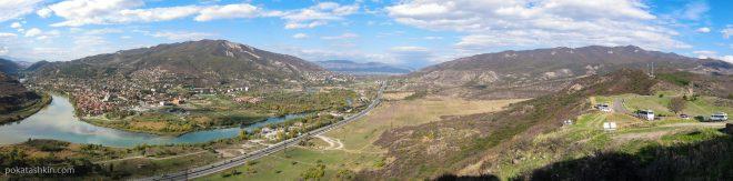 Панорама Мцхеты и военно-грузинской дороги
