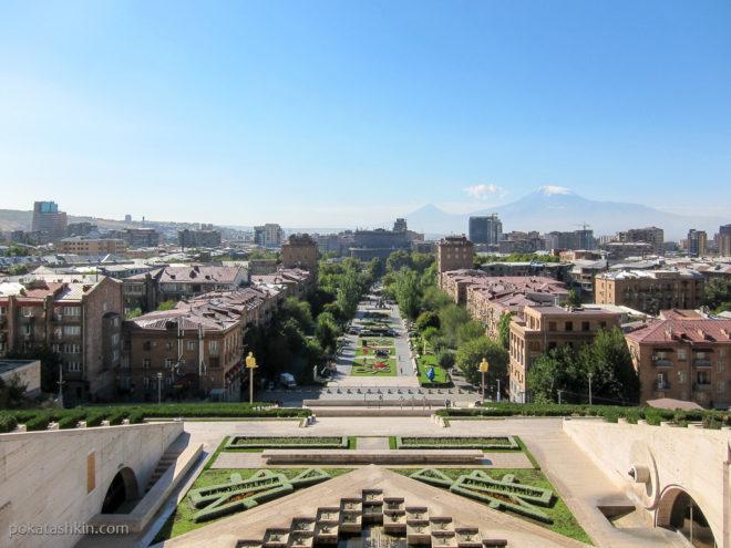"""Вид на Ереван с """"Каскада"""""""