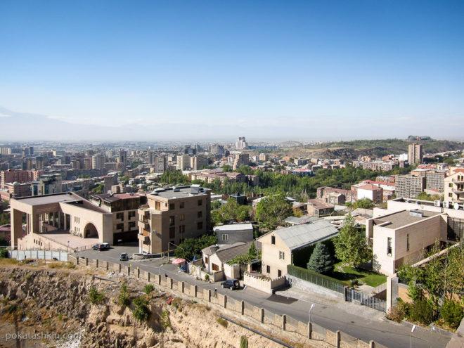 """Вид на Ереван с верхнего яруса """"Каскада"""""""
