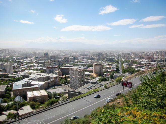 "Вид на Ереван с возвышенности парка ""Ахтанак"""