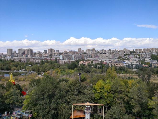 Северная часть Ееревана
