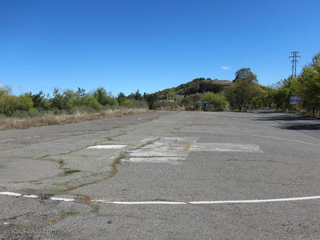 Вертолетная площадка на полуострове Севан